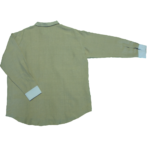 men's attire long sleeve two-tone shirt large