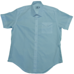 men's attire short sleeve tricut pocket shirt large