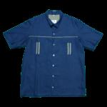 men's attire short sleeve bowler shirt large
